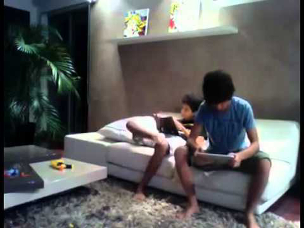 Kid Gets Teased and Smacks Friend with iPad! #Hilarious