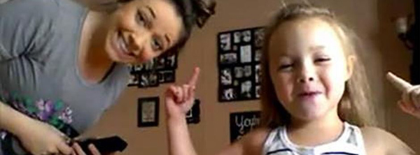 Little Girl and Pregnant Mom Have Cutest, Most Epic Dance Party Ever