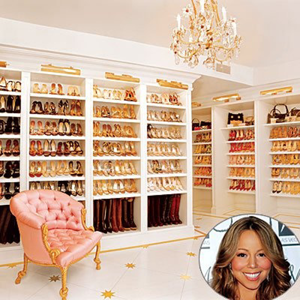 Mariah Carey's dream shoe closet!